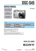 Sony DSC-S45 Digital Camera Service Repair Manual - $7.95
