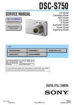 SONY DSC-S750 DIGITAL CAMERA SERVICE REPAIR MANUAL - $7.95