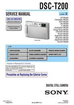 Sony DSC-T200 Digital Camera Service Repair Manual - $7.95