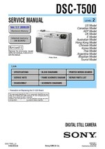 Sony DSC-T500 Digital Camera Service Repair Manual - $7.95