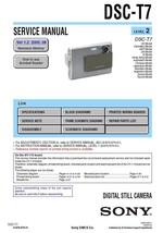 Sony DSC-T7 Digital Camera Service Repair Manual - $7.95