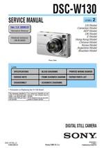 Sony DSC-W130 Digital Camera Service Repair Manual - $7.95