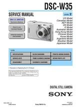 Sony DSC-W35 Digital Camera Service Repair Manual - $7.95