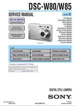 Sony DSC-W80 DSC-W85 Camera Service Repair Manual - $7.95