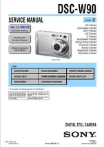 SONY DSC-W90 DIGITAL CAMERA SERVICE REPAIR MANUAL OEM - $7.95