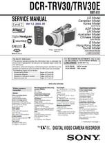 SONY DCR-TRV30 DCR-TRV30E CAMERA SERVICE REPAIR MANUAL - $5.95
