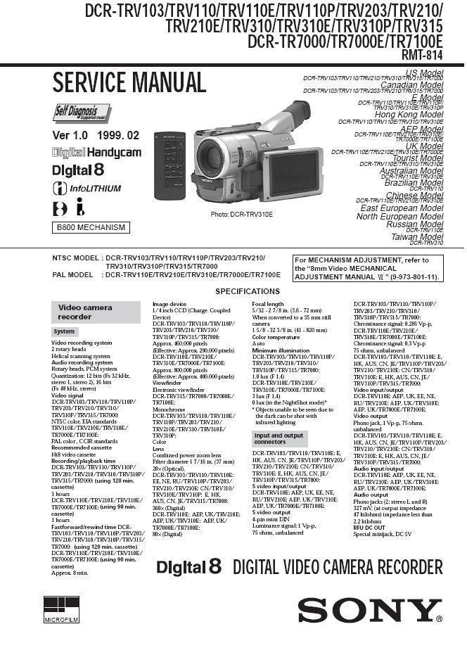 sony dcr trv210e dcr trv310 dcr trv310e and 50 similar items rh bonanza com Sony Handycam Camcorder Sony 8Mm Camcorder