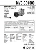 Sony Mavica MVC-CD1000 Camera Service Repair Manual - $7.95
