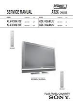 Sony KLV-V26A10E KLV-V32A10E Tv Service Repair Manual - $7.95