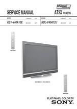 SONY KLV-V40A10E KDL-V40A12U TV SERVICE REPAIR MANUAL - $7.95