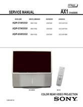SONY KDP-51WS550 KDP-57WS550 KDP-65WS550 SERVICE MANUAL - $7.95
