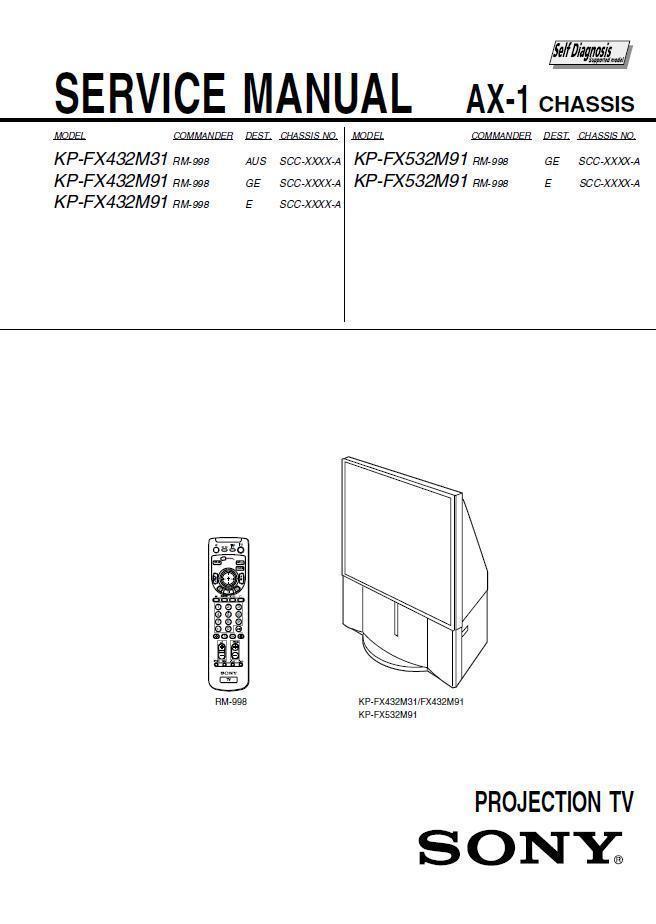 sony kp fx432m31 kp fx432m91 kp fx532m91 and 50 similar items rh bonanza com sony wega projection tv lamp sony grand wega 60 inch lcd projection tv manual