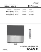 SONY KDP-51WS655 KDP-57WS655 TV SERVICE REPAIR MANUAL - $6.39
