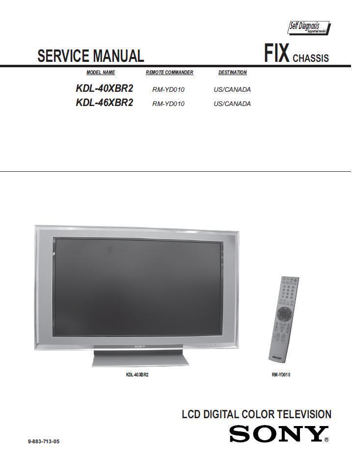 sony kdl 40xbr2 kdl 46xbr2 tv service repair and 50 similar items rh bonanza com Sony BRAVIA Kd65xe8596 for Gaming Sony BRAVIA Kd65xe8596 for Gaming