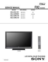SONY KDL-52WL130 KDL-52WL135 SERVICE REPAIR MANUAL FIX2 - $7.95