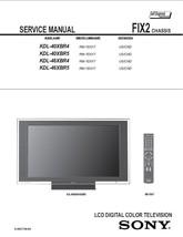 SONY KDL-40XBR4 KDL-40XBR5 SERVICE REPAIR MANUAL FIX2 - $7.95