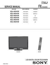 Sony KDL-40S4100 KDL-46S4100 Tv Service Repair Manual - $7.95