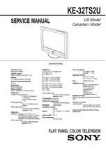 Sony KE-32TS2U Flat Panel Lcd Tv Service Repair Manual - $7.95