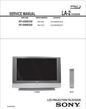 Sony KF-42WE620 KF-50WE620 Service Repair Manual LA-2 - $7.95