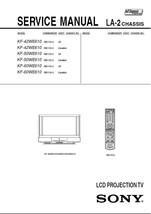 Sony KF-42WE610 KF-50WE610 Lcd Tv Service Repair Manual - $7.95