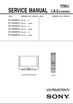 Sony KF-60WE610 Lcd Projection Tv Service Repair Manual - $7.95