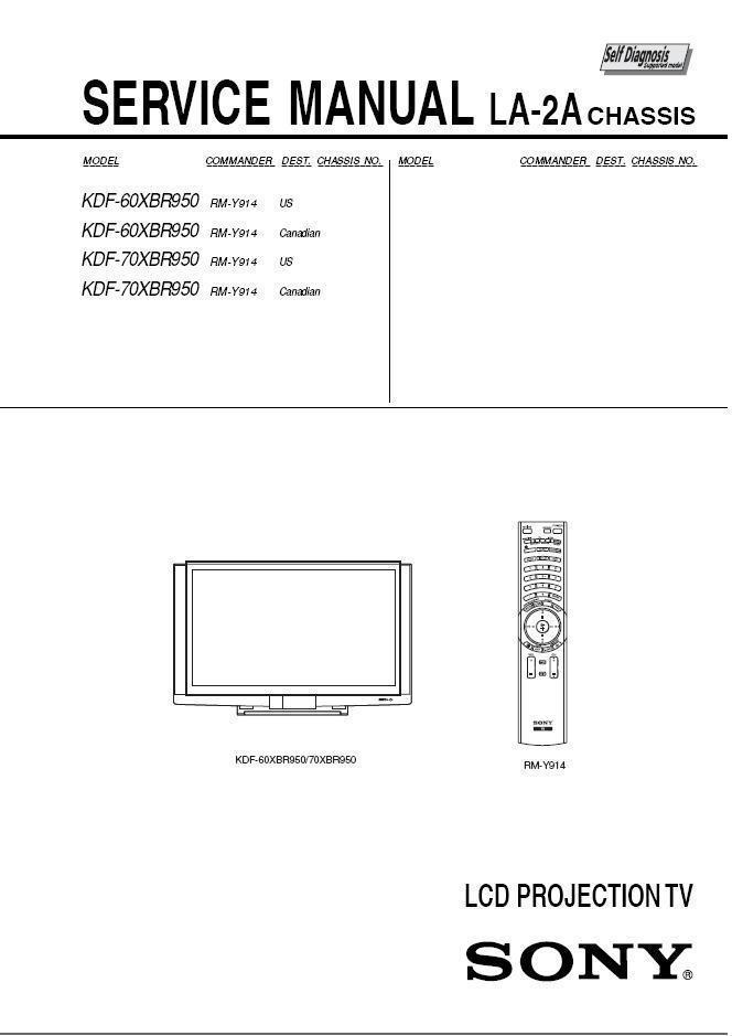 sony kdf 60xbr950 kdf 70xbr950 tv service and 50 similar items rh bonanza com Sony Projection TV 2003 Sony KDF 60XBR950 Lamp
