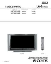 Sony KDF-55XS955 KDF-60XS955 Service Repair Manual LA-3 - $7.95