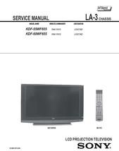 Sony KDF-55WF655 KDF-60WF655 Service Repair Manual LA-3 - $7.95