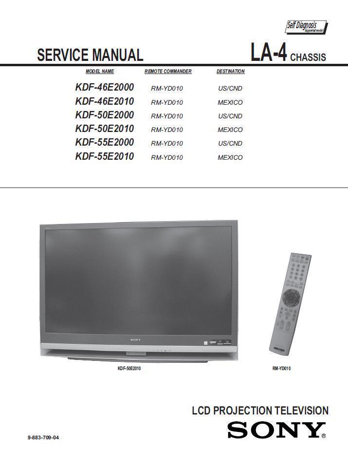 sony kdf 50e2010 kdf 55e2000 kdf 55e2010 and 50 similar items rh bonanza com Sony KDF-55E2000 Manual Sony KDF-55E2000 Troubleshooting