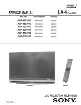 Sony KDF-50E2010 KDF-55E2000 KDF-55E2010 Service Manual - $9.95