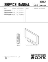 SONY KF-50SX100 KF-50SX100K KF-50SX100U SERVICE MANUAL - $7.95