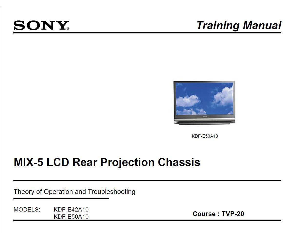 sony mix 5 lcd tv training troubleshooting and 50 similar items rh bonanza com Sony KDF 60XBR950 Problems Sony KDF-70XBR950 Back