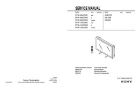 SONY PFM-510A2WE PFM-510A2WG PFM-510A2WU SERVICE MANUAL - $7.95