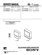 Sony KP-53XBR45 KP-61XBR48 Service Repair Manual RA-1 - $7.95