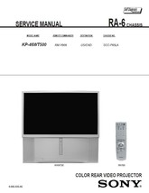 SONY KP-46WT500 PROJECTION TV SERVICE REPAIR MANUAL - $6.39