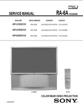 Sony KP-51WS510 KP-57WS510 KP-65WS510 Service Manual - $9.95