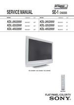 Sony KDL-26U2000 KDL-32U2000 KDL-40U2000 Service Manual - $9.95