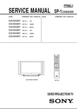 Sony KDS-R50XBR1 KDS-R60XBR1 Sxrd Service Repair Manual - $7.95