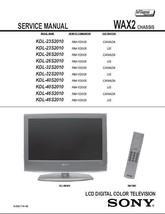 SONY KDL-40S2010 KDL-46S2010 SERVICE REPAIR MANUAL WAX2 - $7.95