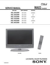 Sony KDL-26S2000 KDL-32S2000 KDL-40S2000 Service Manual - $9.95