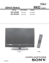 SONY KDL-32S2400 KDL-40S2400 TV SERVICE REPAIR MANUAL - $6.39