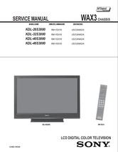 SONY KDL-40S3000 KDL-46S3000 TV SERVICE REPAIR MANUAL - $7.95