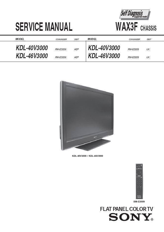 sony kdl 40v3000 kdl 46v3000 tv service and 50 similar items rh bonanza com Sony XBR950 Sony KDF 60XBR950 Problems