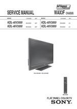 SONY KDL-40V3000 KDL-46V3000 TV SERVICE REPAIR MANUAL - $7.95
