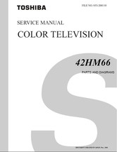 TOSHIBA 42HM66 TV FACTORY SERVICE REPAIR MANUAL OEM - $6.39