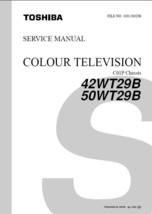 Toshiba 42WT29B 50WT29B Tv Service Repair Manual C01P - $7.95