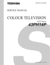 Toshiba 43PH14P Projection Tv Service Repair Manual - $7.95