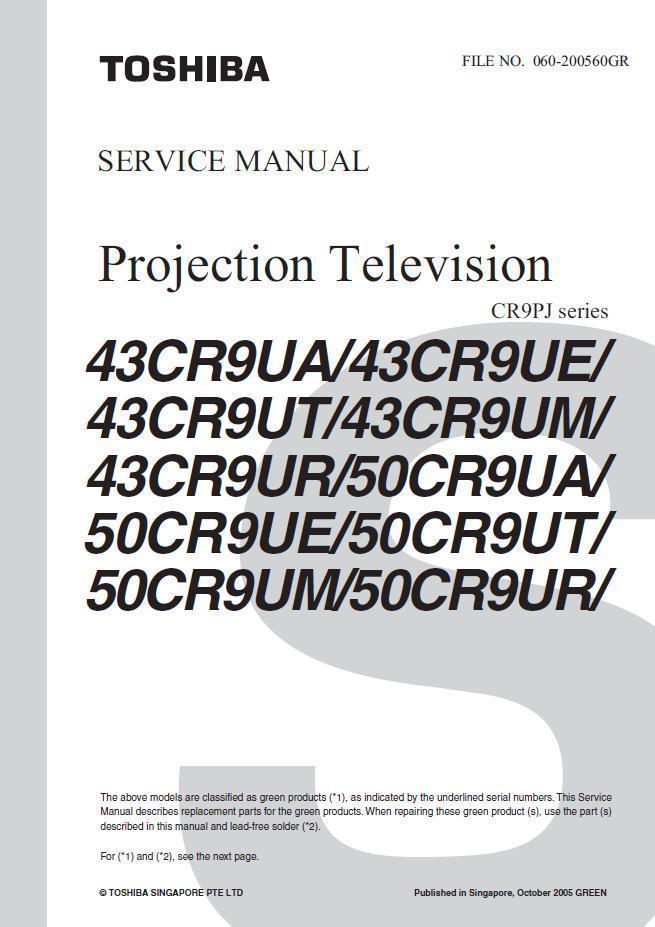 toshiba 43cr9ur 50cr9ua tv service repair and 50 similar items rh bonanza com Toshiba LCD Manual Toshiba TV Owners Manual
