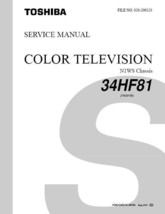 Toshiba 34HF81 Projection Tv Service Repair Manual N1WS - $7.95