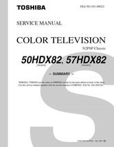 TOSHIBA 50HDX82 57HDX82 TV SERVICE REPAIR MANUAL - $6.39